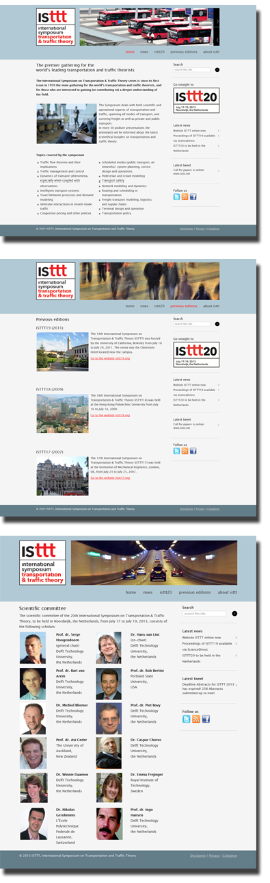 Screenshots website ISTTT